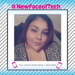 Brenda, one of the winners of our #NewFaceofTech Challenge!