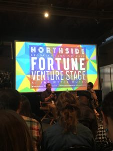 Amazing experience listening to a talk on the future of music at the Northside Festival!